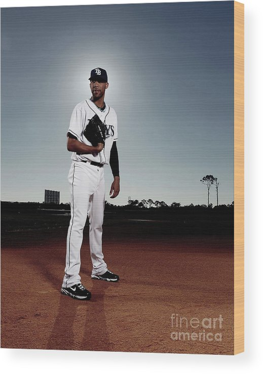 Media Day Wood Print featuring the photograph David Price by Nick Laham