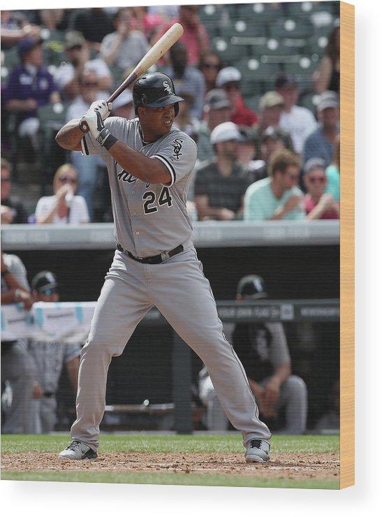 American League Baseball Wood Print featuring the photograph Dayan Viciedo by Doug Pensinger