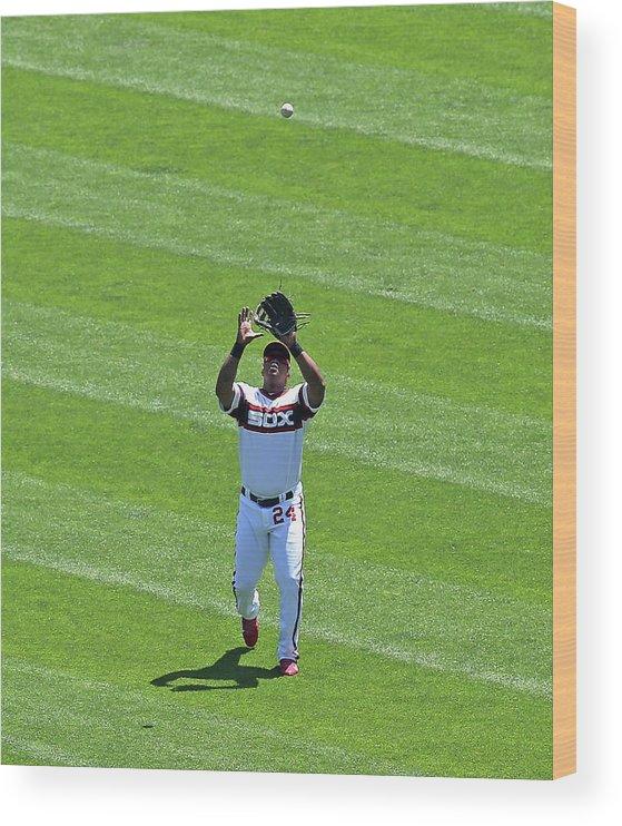 American League Baseball Wood Print featuring the photograph Dayan Viciedo by Jonathan Daniel