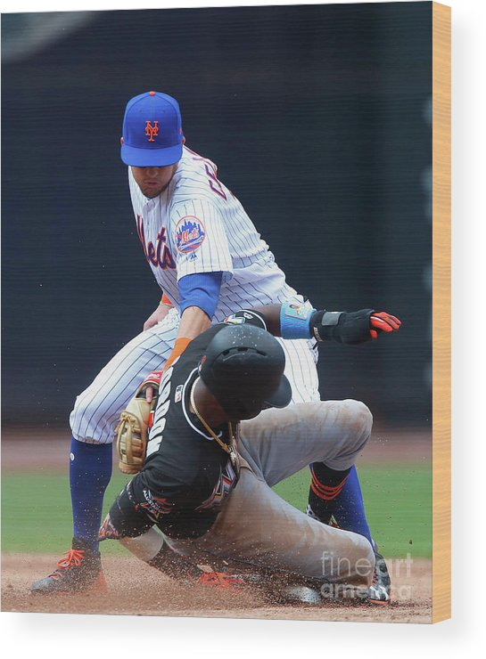 People Wood Print featuring the photograph Dee Gordon by Jim Mcisaac
