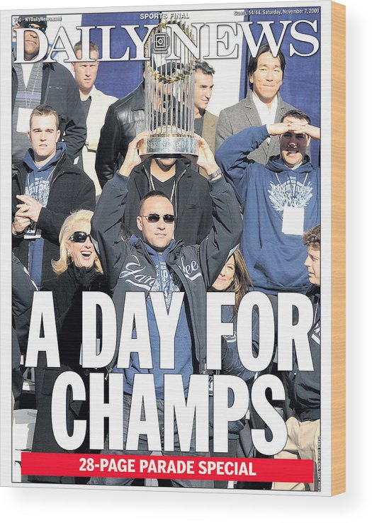 Showing Wood Print featuring the photograph Derek Jeter by New York Daily News Archive