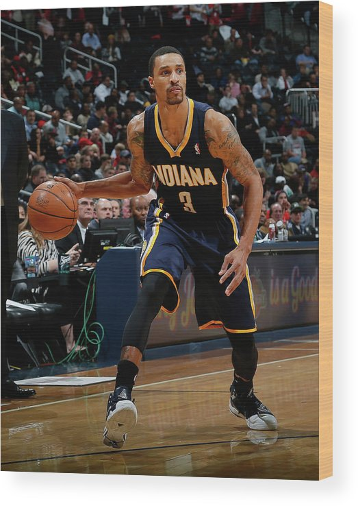 Atlanta Wood Print featuring the photograph George Hill by Kevin C. Cox