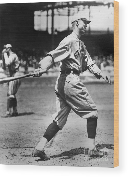 American League Baseball Wood Print featuring the photograph George Sisler by National Baseball Hall Of Fame Library