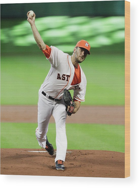 Jarred Cosart Wood Print featuring the photograph Jarred Cosart by Bob Levey
