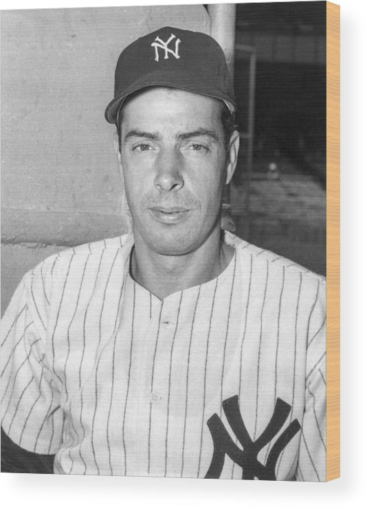 People Wood Print featuring the photograph Joe Dimaggio by The Stanley Weston Archive