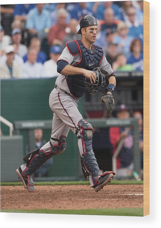 Joe Mauer Wood Print featuring the photograph Joe Mauer by John Williamson