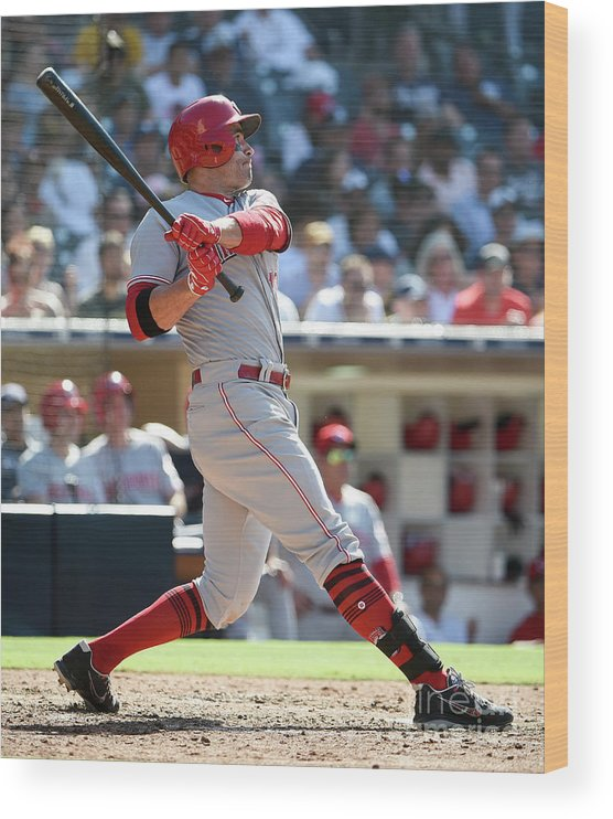 People Wood Print featuring the photograph Joey Votto by Denis Poroy