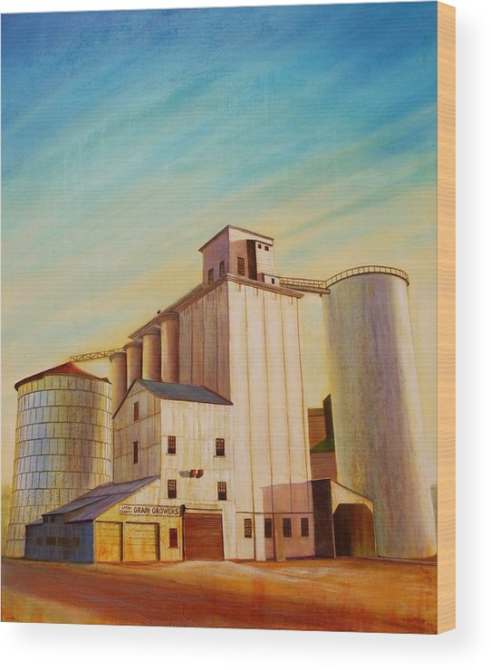 Grain Wood Print featuring the painting Latah County Grain Growers by Leonard Heid