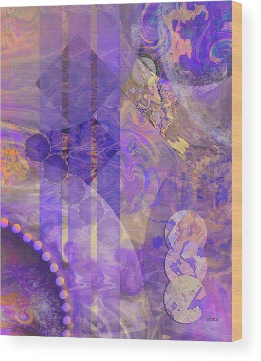 Lunar Impressions 2 Wood Print featuring the digital art Lunar Impressions 2 by John Robert Beck
