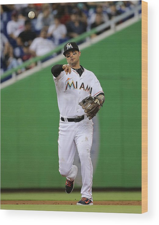 People Wood Print featuring the photograph Martin Prado by Mike Ehrmann