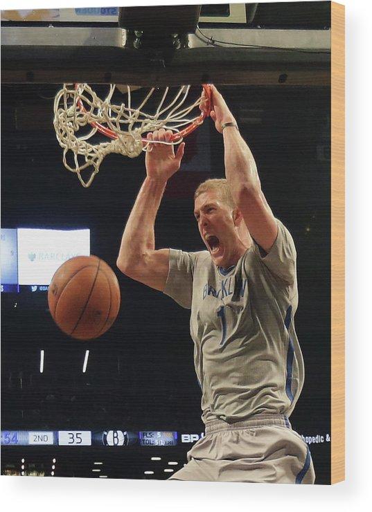 Nba Pro Basketball Wood Print featuring the photograph Mason Plumlee by Bruce Bennett