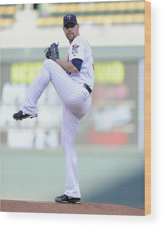 Game Two Wood Print featuring the photograph Mike Pelfrey by Hannah Foslien