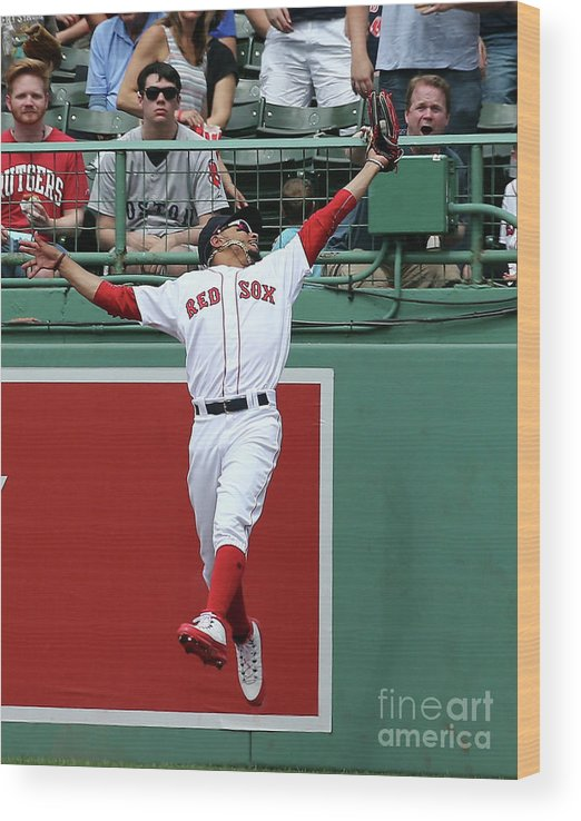 People Wood Print featuring the photograph Mitch Haniger and Mookie Betts by Jim Rogash
