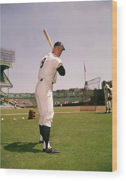 American League Baseball Wood Print featuring the photograph Roger Maris by Louis Requena