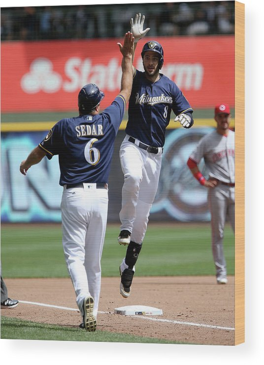 Second Inning Wood Print featuring the photograph Ryan Braun by Dylan Buell