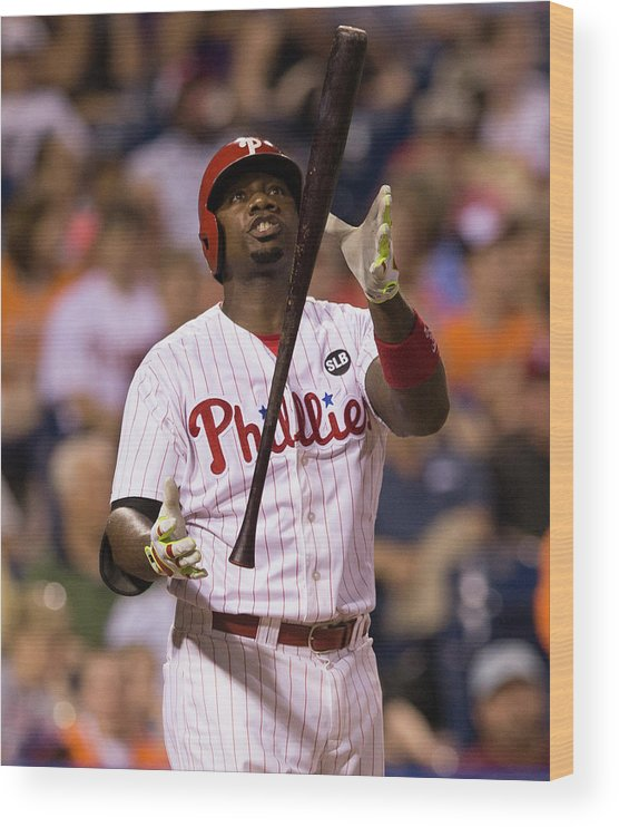 People Wood Print featuring the photograph Ryan Howard by Mitchell Leff