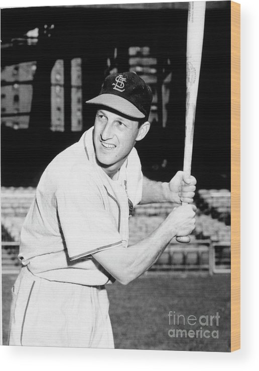 Professional Sport Wood Print featuring the photograph Stan Musial by National Baseball Hall Of Fame Library