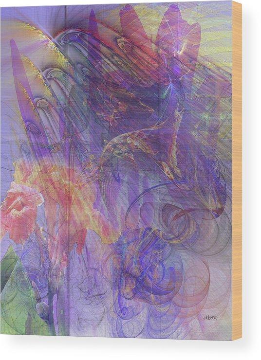 Summer Awakes Wood Print featuring the digital art Summer Awakes by John Robert Beck