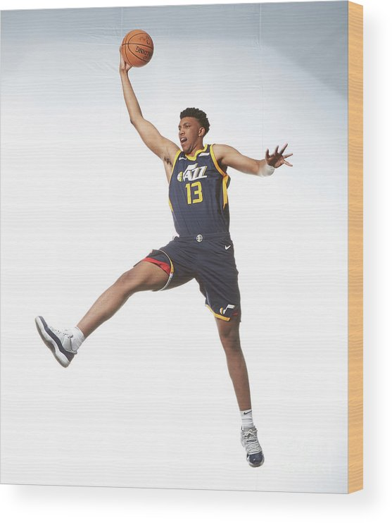 Nba Pro Basketball Wood Print featuring the photograph Tony Bradley by Nathaniel S. Butler