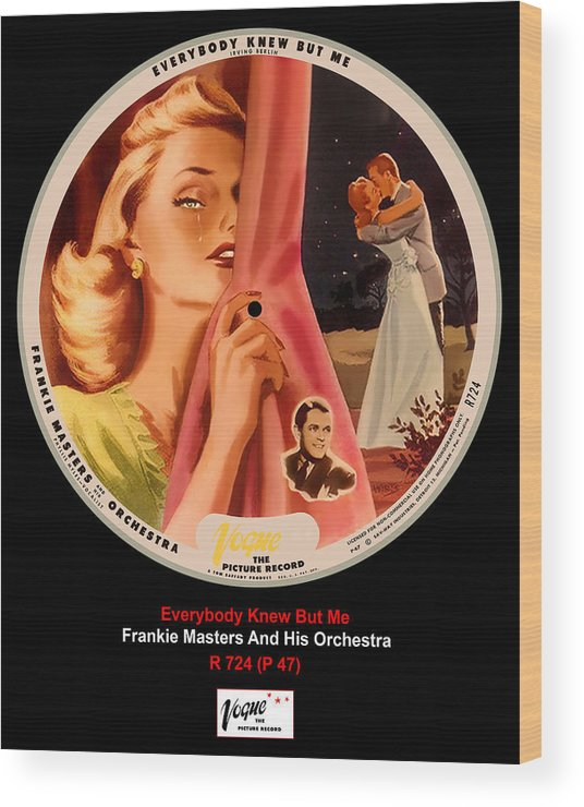 Vogue Picture Record Wood Print featuring the digital art Vogue Record Art - R 724 - P 47 by John Robert Beck