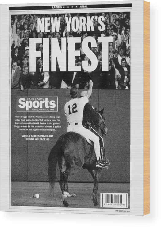 Horse Wood Print featuring the photograph Wade Boggs by New York Daily News Archive