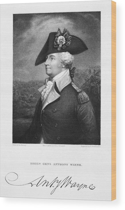 18th Century Wood Print featuring the photograph Anthony Wayne (1745-1796) by Granger