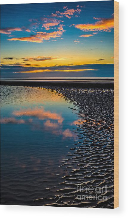British Wood Print featuring the photograph Sunset Reflections by Adrian Evans
