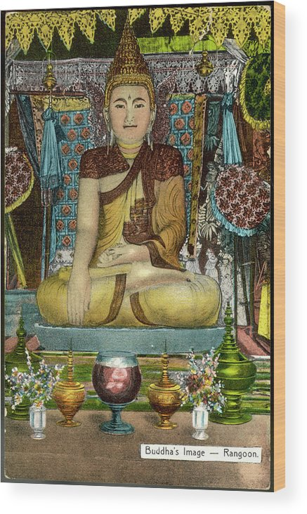 Buddha Wood Print featuring the photograph Siddhartha Gautama, Known by Mary Evans Picture Library