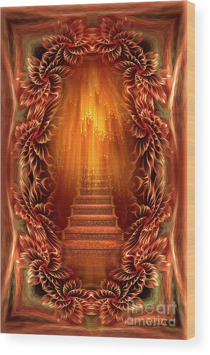 Aglimpseofheaven Wood Print featuring the digital art A Glimpse Of Heaven - Soothing Art By Giada Rossi by Giada Rossi