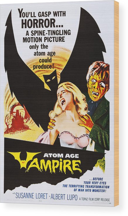 1960 Movies Wood Print featuring the photograph Atom Age Vampire, Aka Seddok, Lerede Di by Everett