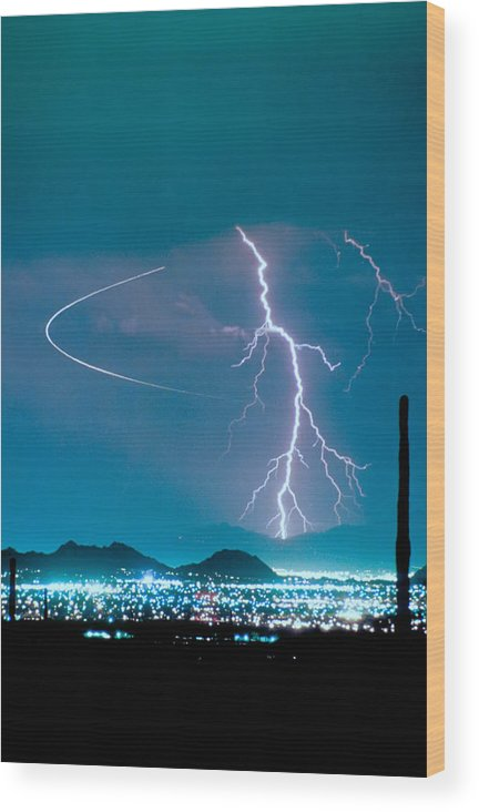 Lightning Wood Print featuring the photograph Bo Trek The Lightning Man by James BO Insogna