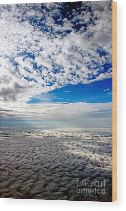 Cloud Formations Wood Print featuring the photograph Ceiling High 4 by Earl Johnson