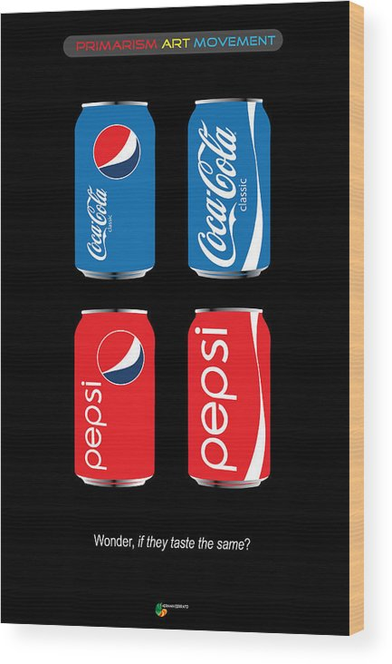 Coca Cola Wood Print featuring the digital art Coca Cola And Pepsi by Herman Cerrato