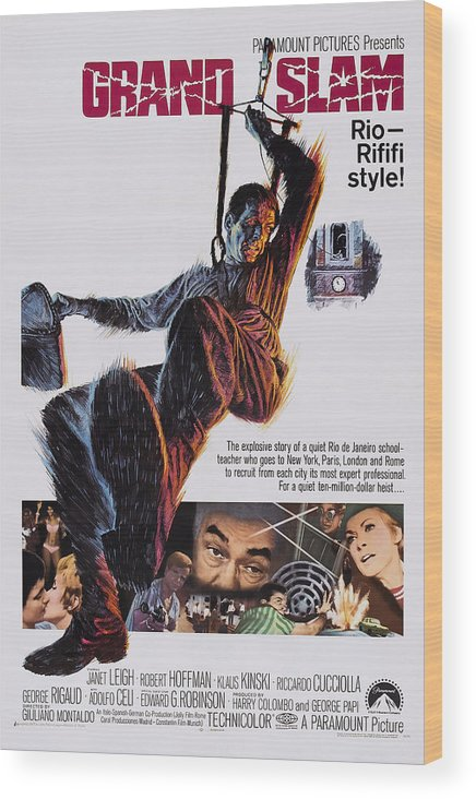 1960s Movies Wood Print featuring the photograph Grand Slam, Aka Ad Ogni Costo, Us by Everett