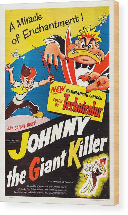 1950s Poster Art Wood Print featuring the photograph Johnny The Giant Killer, Aka Jeannot by Everett