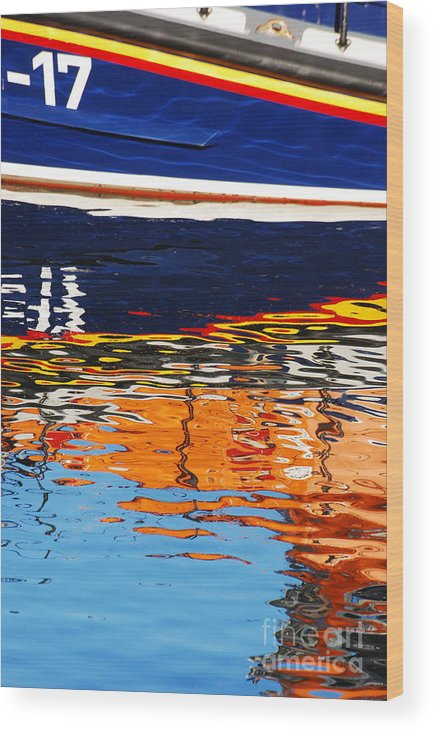 Lifeboat Wood Print featuring the photograph Lifeboat Reflections by Joe Cashin
