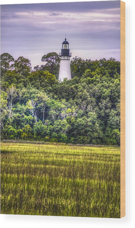 Lighthouse Wood Print featuring the photograph Lighthouse II by Island Sunrise and Sunsets Pieter Jordaan