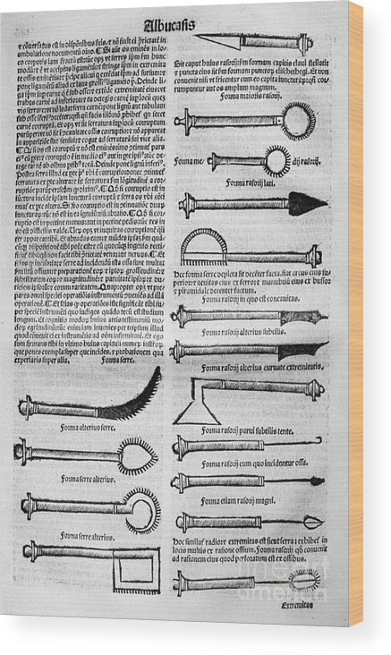 10th Century Wood Print featuring the photograph Medical Instruments, 1531 by Granger
