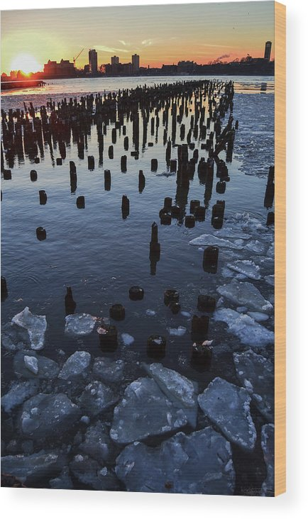 Hudson River Wood Print featuring the photograph Melting River by Luca Petrocchi