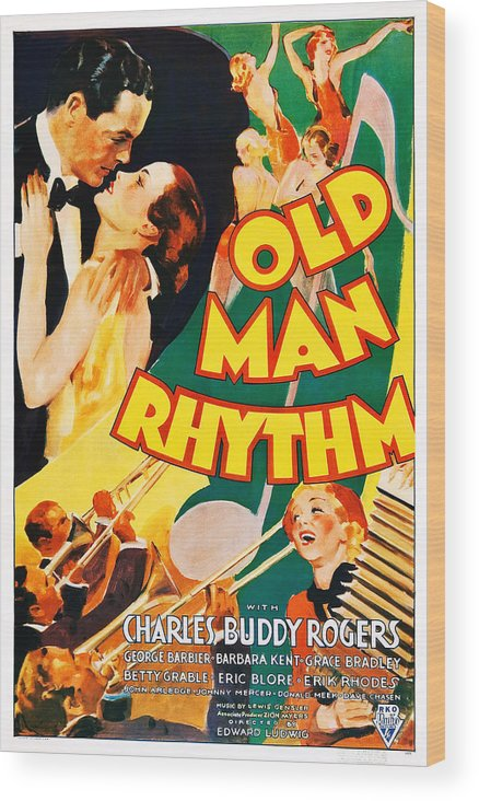 1930s Movies Wood Print featuring the photograph Old Man Rhythm, Us Poster, From Top by Everett