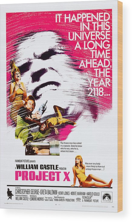 1960s Movies Wood Print featuring the photograph Project X, Us Poster, Christopher by Everett