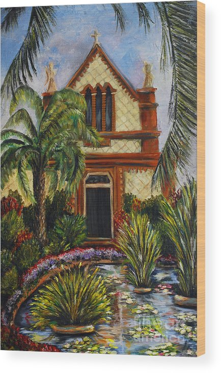 Italy Wood Print featuring the painting Quiet Chapel by Nancy Bradley