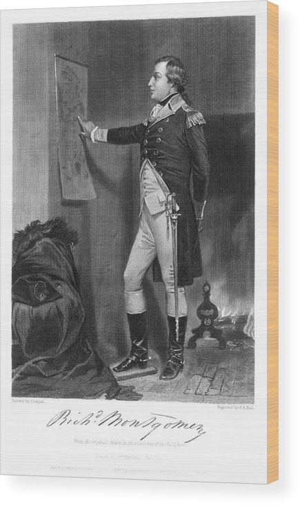 1775 Wood Print featuring the photograph Richard Montgomery by Granger