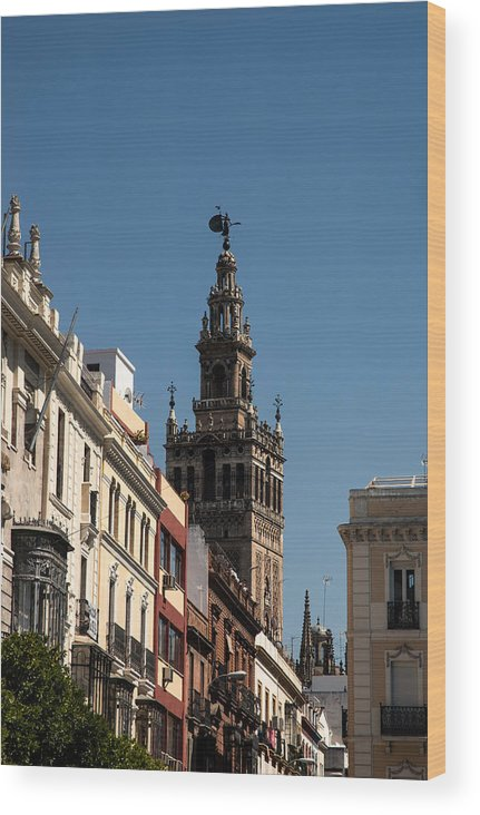 Seville Wood Print featuring the photograph Seville - Giralda by Andrea Mazzocchetti