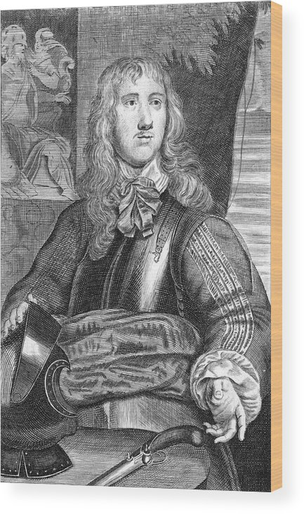 Sir Wood Print featuring the drawing Sir Charles Lucas Military Commander by Mary Evans Picture Library