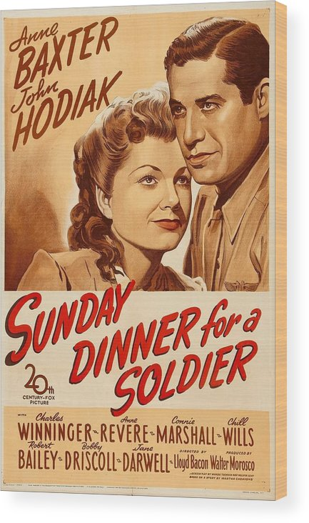 1940s Movies Wood Print featuring the photograph Sunday Dinner For A Soldier, Us Poster by Everett
