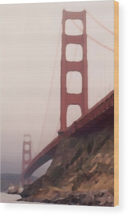 Art Wood Print featuring the photograph The Bridge by Piero Lucia