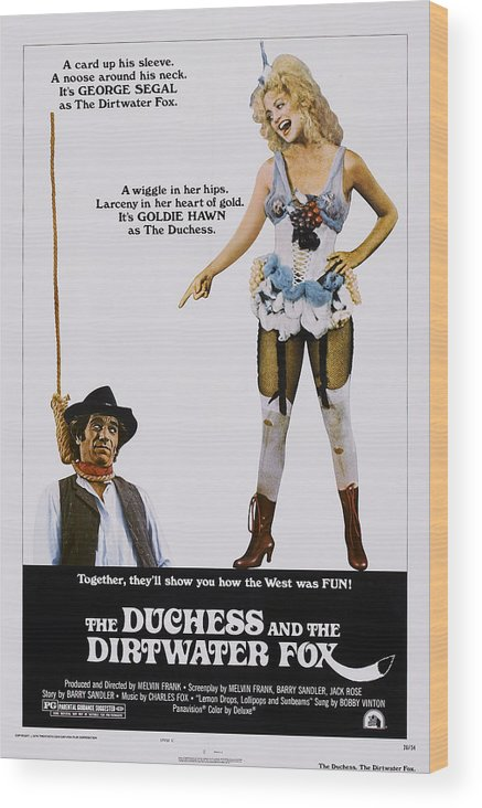 1970s Poster Art Wood Print featuring the photograph The Duchess And The Dirtwater Fox, Us by Everett