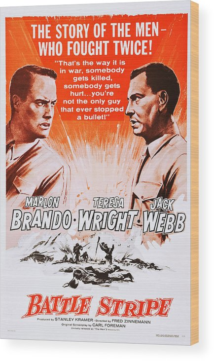 1950 Movies Wood Print featuring the photograph The Men, Aka Battle Stripe, From Left by Everett