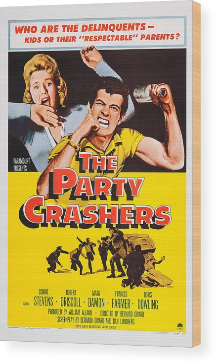 1950s Poster Art Wood Print featuring the photograph The Party Crashers, Connie Stevens by Everett